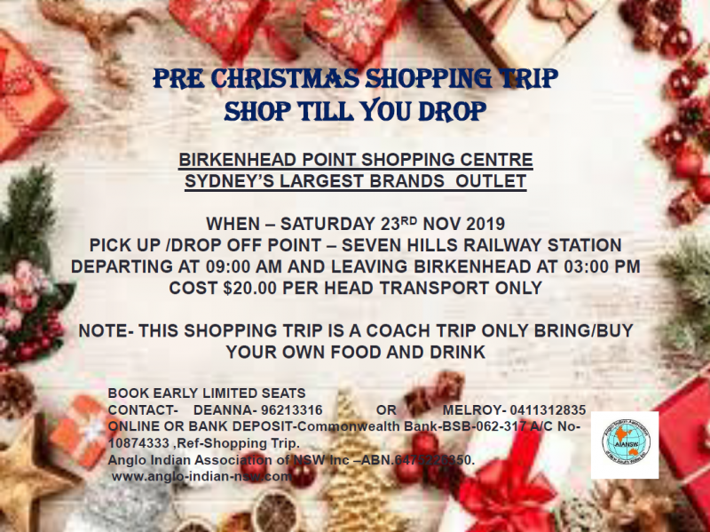 AIANSW Shopping Trip 23rd November 2019